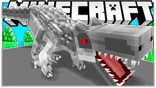 AMAZING JURASSIC WORLD CASTLE DEFENSE BRAND NEW UPDATE - Minecraft Modded Mini Game
