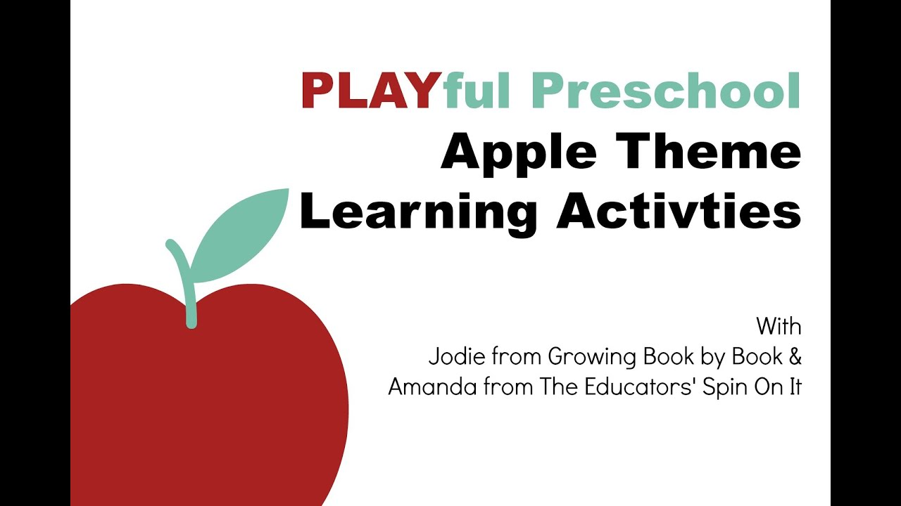 Playful Preschool Apple Theme