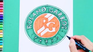 How to draw Roland Garros - French Open Logo