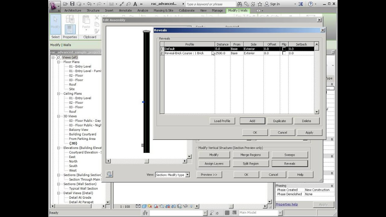 how to break a reveal on revit