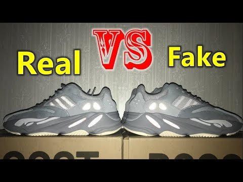 """【Real VS Fake】 Adidas Yeezy Boost 700 """"Inertia"""" Details Review"""