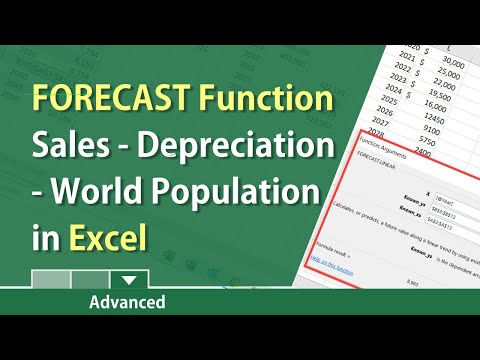 Forecast Function in Excel to predict future values by Chris