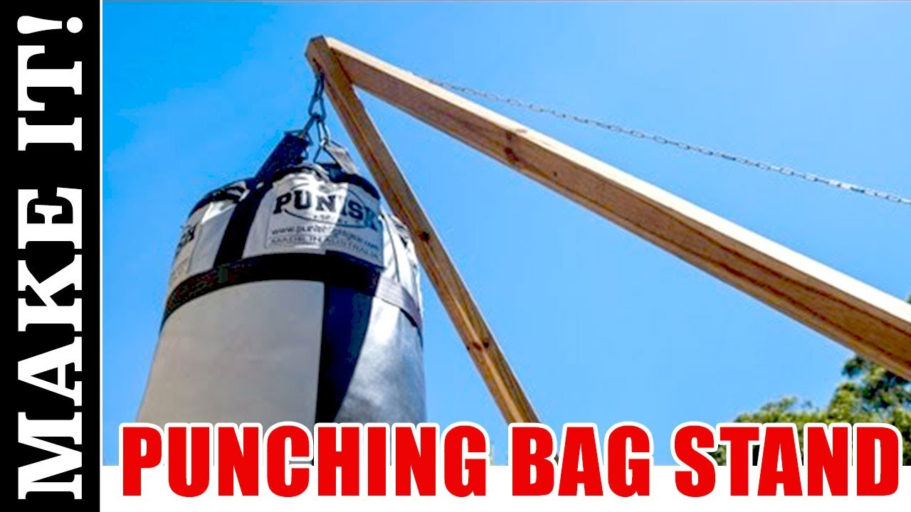 How To Make A Kickboxing Or Punching Bag Stand Youtube