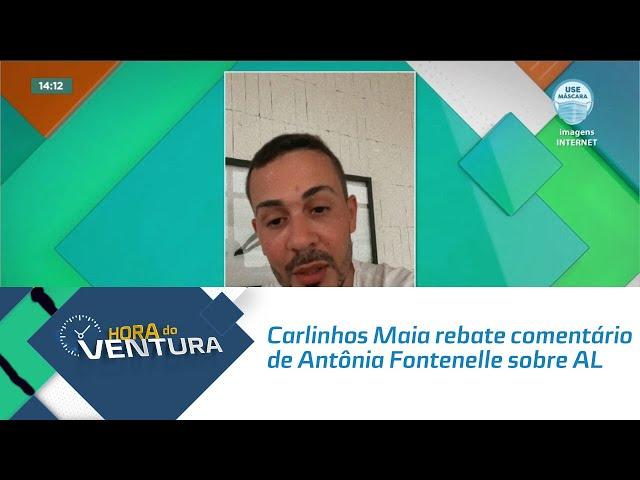Carlinhos Maia rebate comentário de Antônia Fontenelle sobre Alagoas