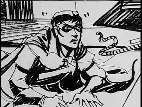 1989 Batman Movie Complete Robin Storyboard Sequence Deleted Scene Hamil Conroy Voices