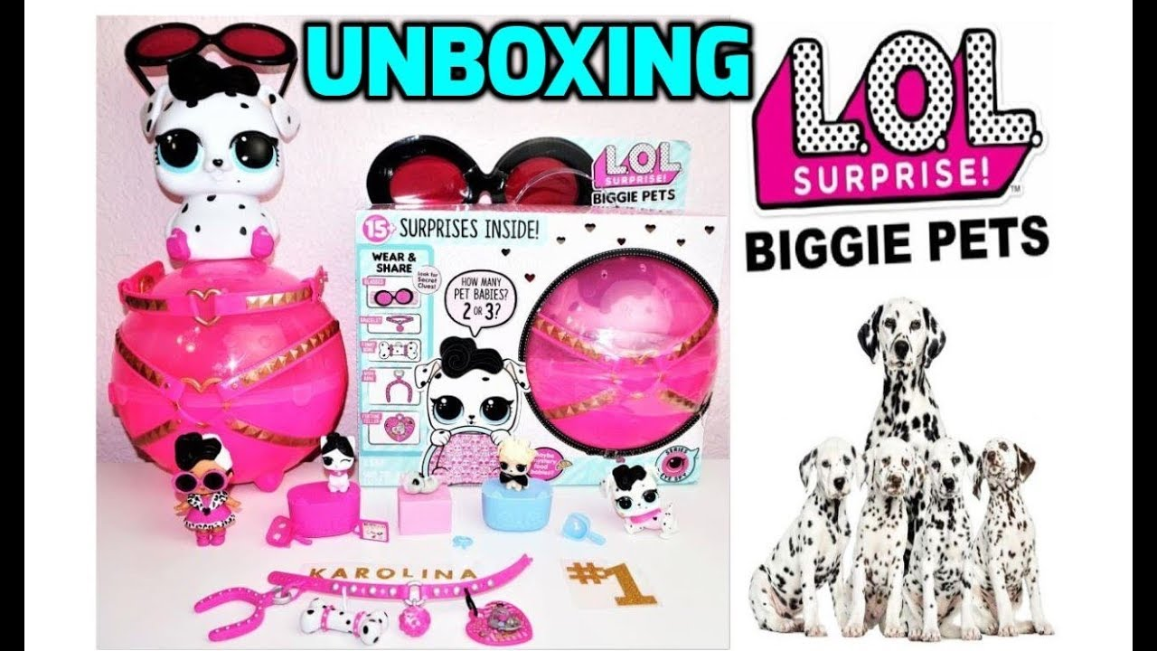 New Lol Biggie Pets Dollmatian Unboxing L O L Surprise Big Mom