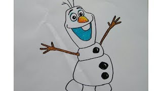 how to draw olaf frozen (menggambar Olaf Frozen)
