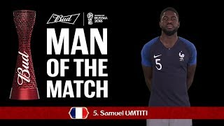 Samuel UMTITI (France) - Man of the Match - MATCH 61