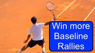 Tennis Instruction Singles Tactic  Rally Ideas