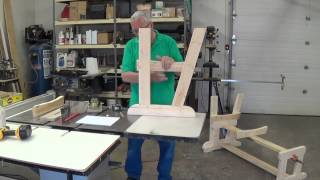 Building A Glider Rocker Love Seat Video #2