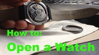 How to Open a Watch Back Without a Wrench