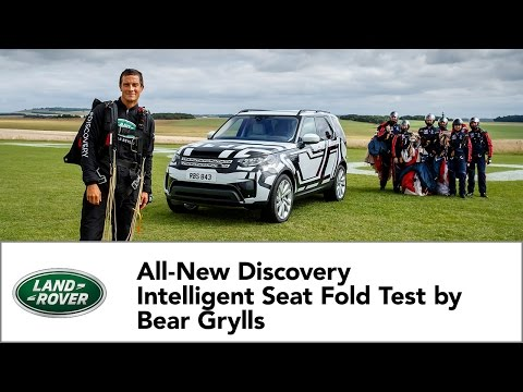 All-New Land Rover Discovery Intelligent Seat Fold Technology Tested by Bear Grylls