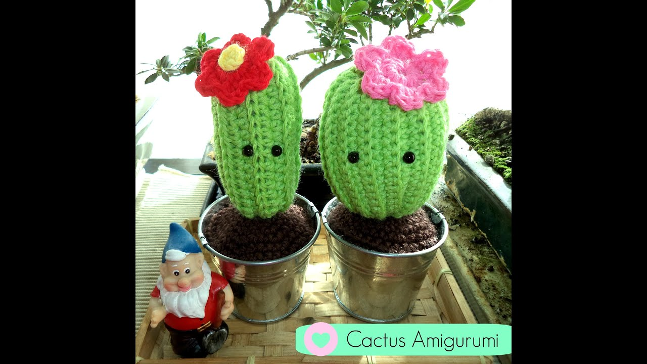 Cactus amigurumi tutorial paso a paso youtube - Ideas para hacer ganchillo ...