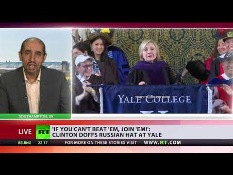 'Frail Clinton has problem of letting her failure go' – analyst on Hillary speech at Yale