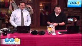 Heated USB Gadgets KSTP News w/ Christian Unser, Heated Mouse, Heated Shawl, Chair Pad, Slippers