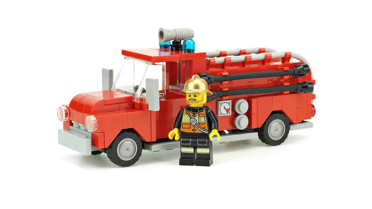 LEGO Fire Truck  MOC Building Instructions