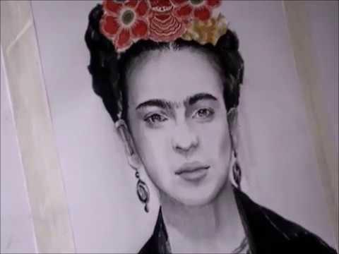 Dibujo Frida Kahlo Drawing Frida Kahlo Youtube