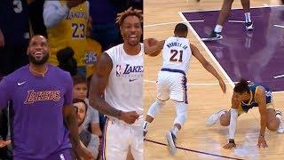 Zach Norwell Jr. just broke Jordan Poole's ankle   Lakers vs Warriors