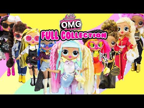 omg-dolls-full-collection!-unboxing-omg-makeover-hack