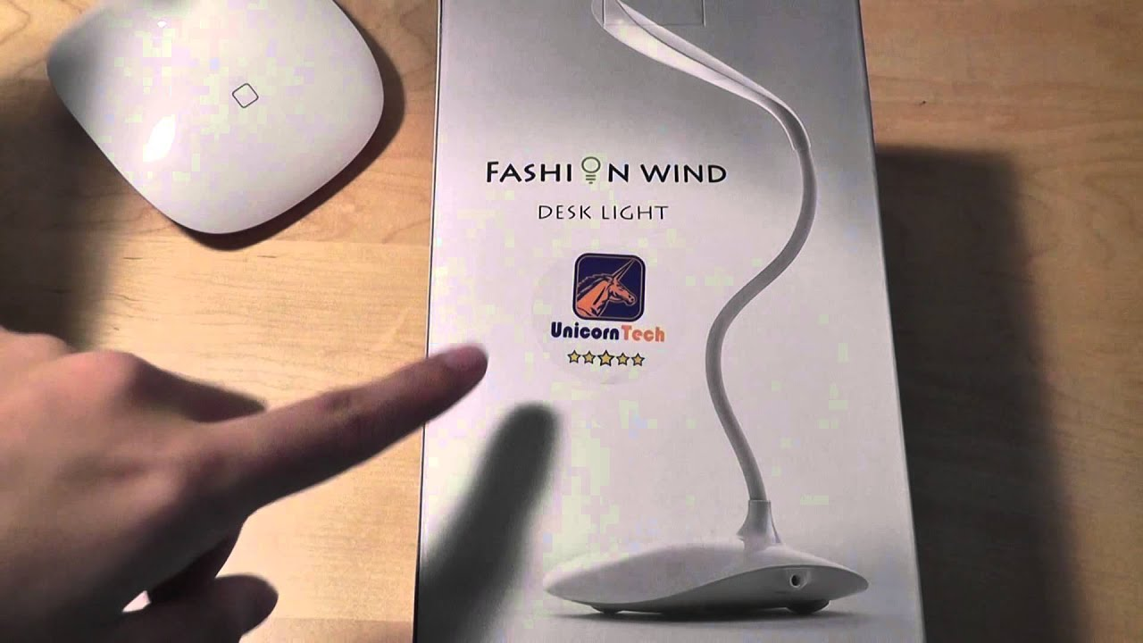 Review Fashion Wind Adjule Desk Light Led Touch Lamp
