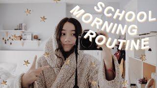 school morning routine | vlog style ! 🌤