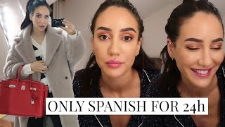 Only Speaking Spanish for 24Hours (With Subtitles) | Tamara Kalinic