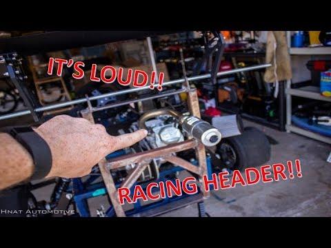 Sound Comparison! - Go Kart Predator 212cc Stock vs  Race Header - IT'S  LOUD