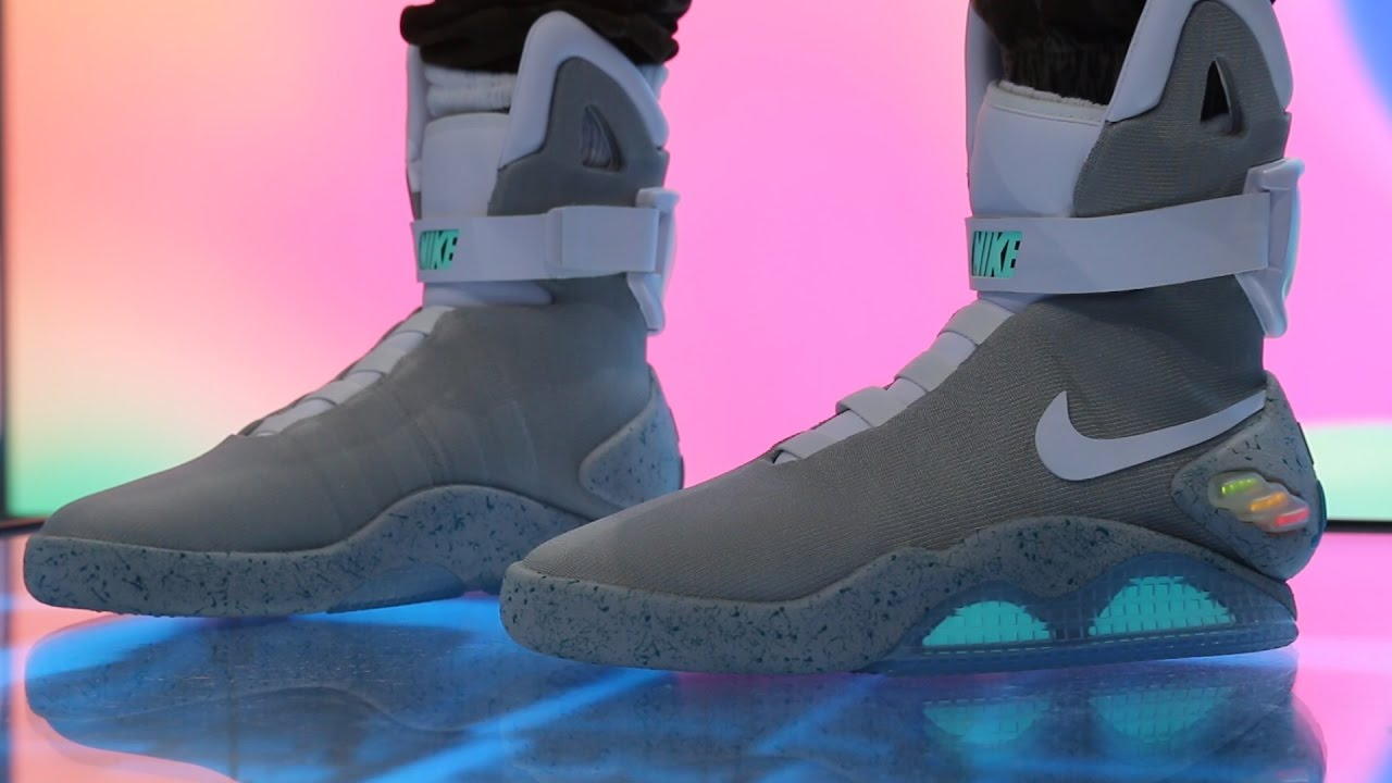 b0a6edcda6d 2016 NIKE MAG  SELF-LACING BACK TO THE FUTURE SHOES (DETAILED LOOK ...