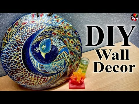 cheap-diy-wall-hanging-decor-idea-for-living-room-/-easy-and-creative-room-decor-art