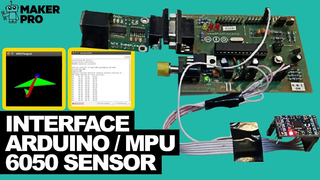 How to Interface Arduino and the MPU 6050 Sensor | Arduino