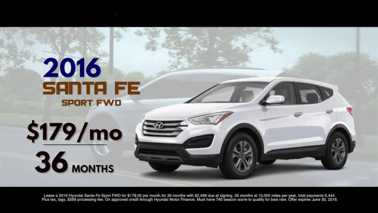 Hyundai Springfield Mo >> 2016 Hyundai Santa Fe $179/mo Lease! | Safford Hyundai - YouTube