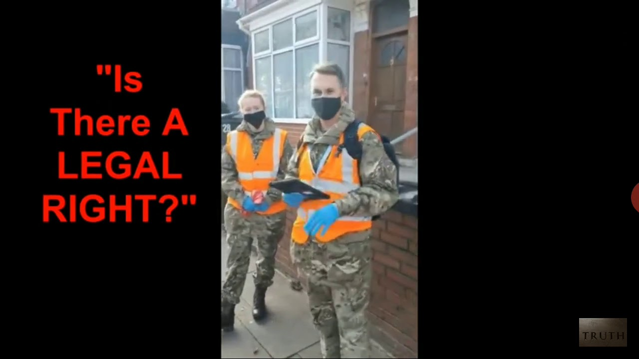 Royal Air force on Britain's Streets pushing the Co¥!D test.