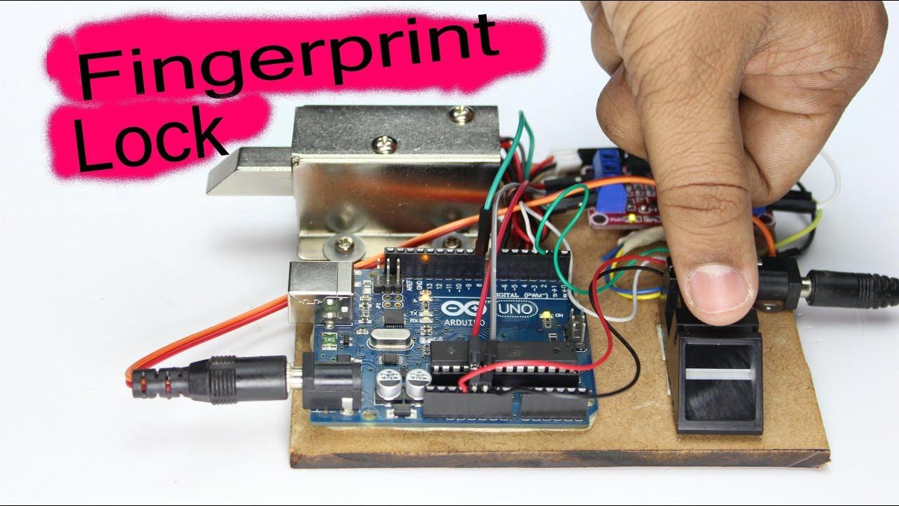 How To Make Electric Fingerprint Door Lock At Home Youtube