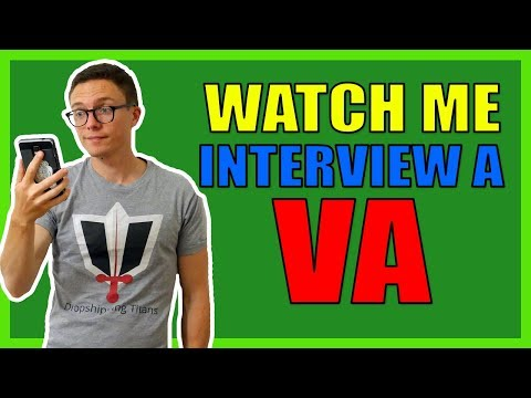 Watch Me Interview A Virtual Assistant For EBay Dropshipping!