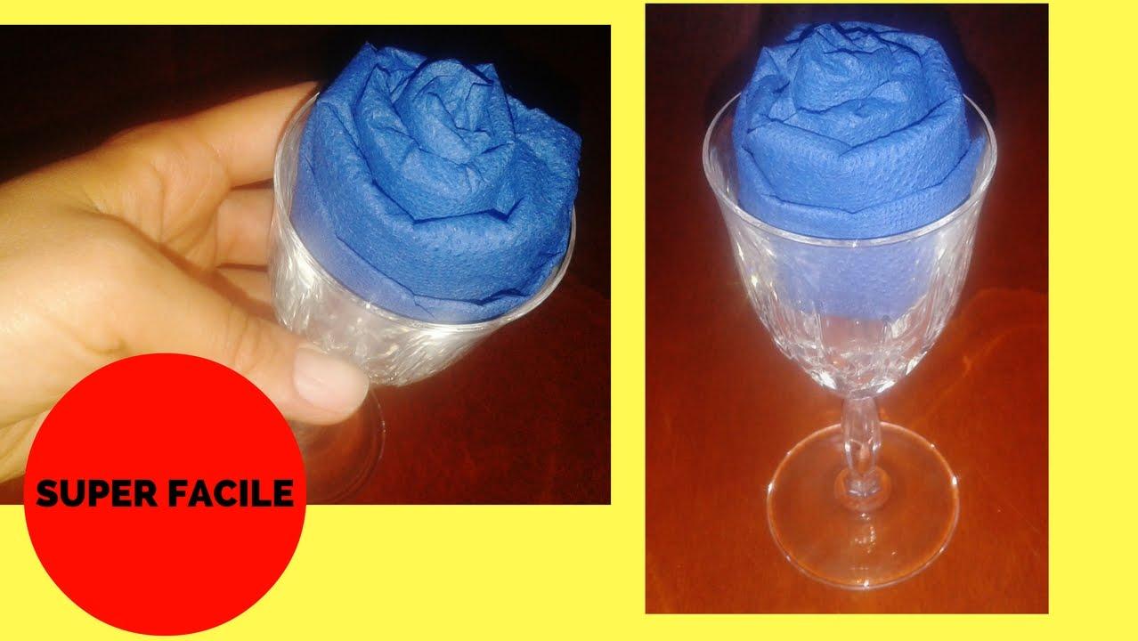 Piegare Tovaglioli A Rosa.Come Piegare I Tovaglioli La Rosa Nel Bicchiere How To Fold A Napkin Rose