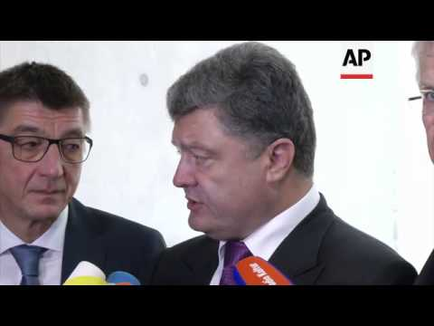 Ukrainian presidential candidate Poroschenko comments on visit to Germany