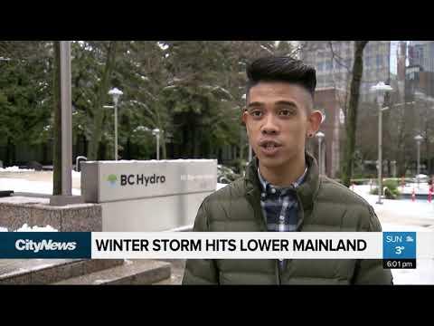Winter Storm Hits Lower Mainland