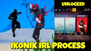 UNLOCKED! IKONIK Skin & SCENARIO Emote in Fortnite (IRL PROCESS)