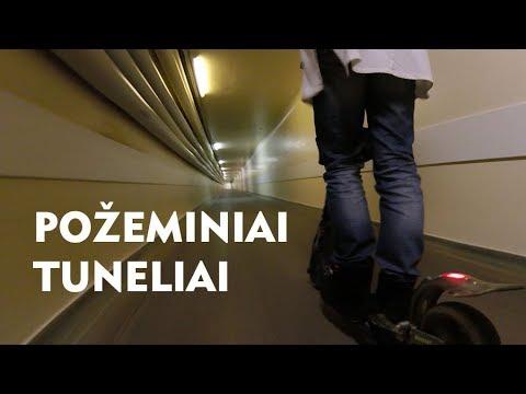 Elektriniu paspirtuku požeminiais Kauno klinikų tuneliais
