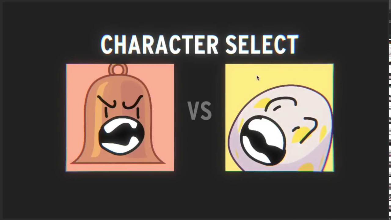 Battle for BFDI Battle : Character Select Test #1