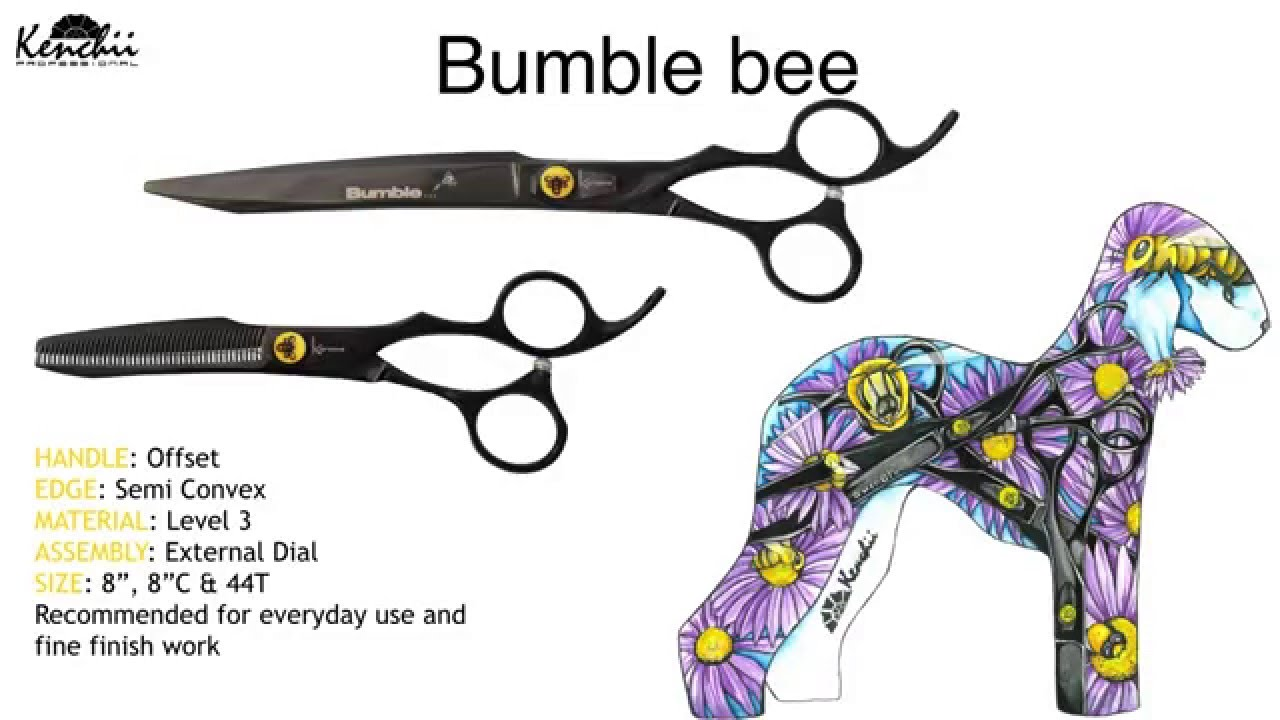 Bumble Bee Grooming Shears by Kenchii