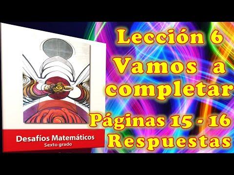 """desafios-matematicos-6°-""""leccion-6-paginas-15---16"""""""
