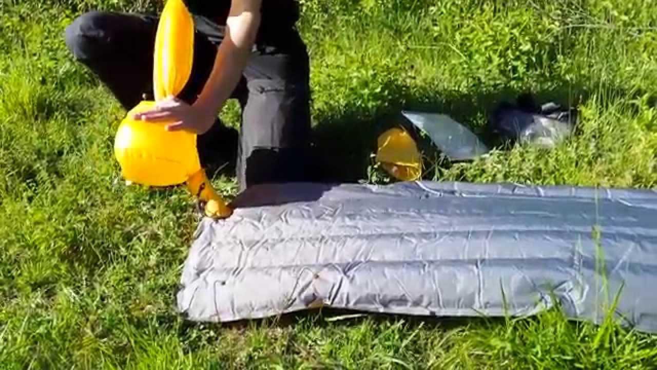 Gonfler Un Matelas Gonflable #3: Gonfler Un Matelas Gonflable De Randonnée - YouTube