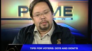 Tips for voters: Do's and don'ts
