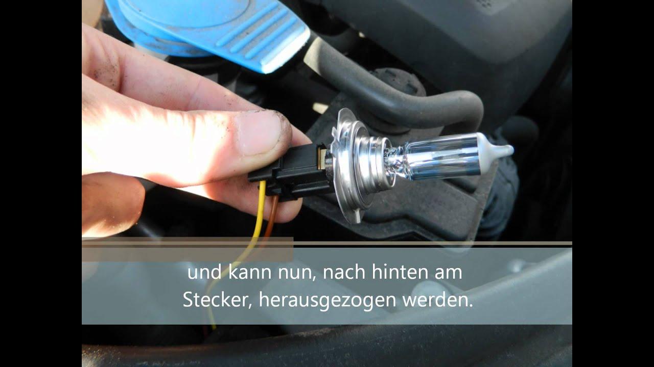Audi A3 8p 8p1 Lampentausch Scheinwerfer Front H7 Osram