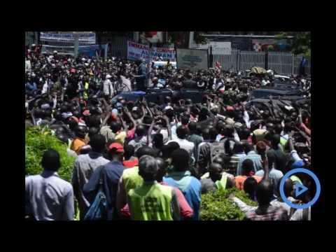 President Uhuru Kenyatta adressess Kisumu residents