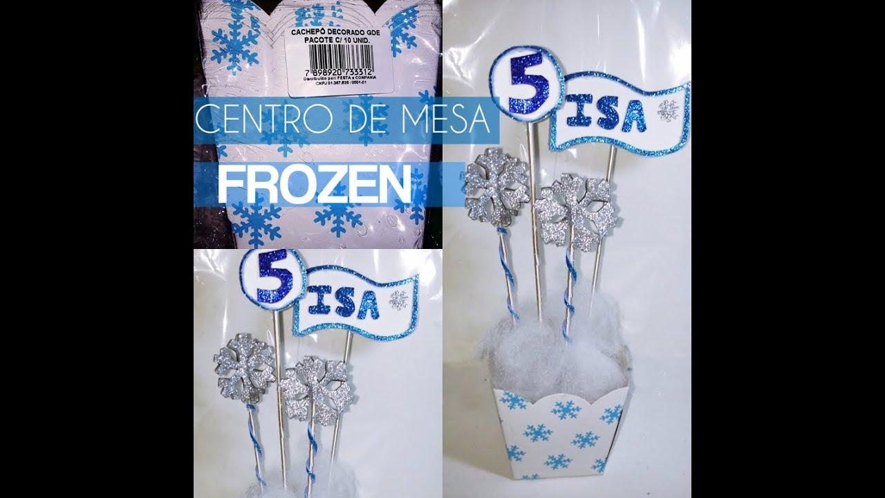 Centro de mesa frozen youtube - Centros de mesa otonales ...