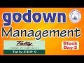 Tally ERP-9 Godown Creation/ Goods Transfer from one Godown to another Godown|Hindi|Stock Mgt. Tally