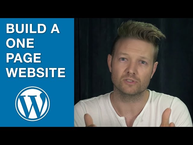Creating a One Page Website in WordPress using SiteOrigin Page Builder