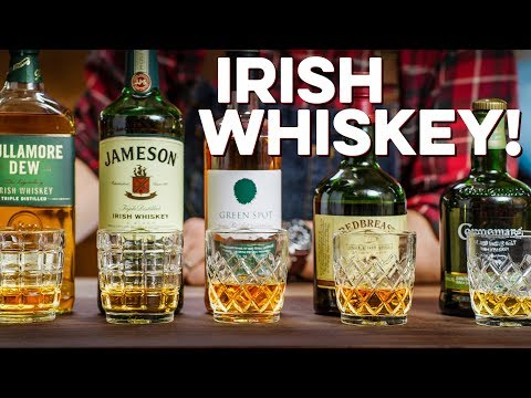 Tasting & Ranking 5 Irish Whiskeys | How to Drink